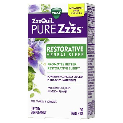ZzzQuil PURE Zzzs Restorative Herbal Sleep Tablets - 20ct