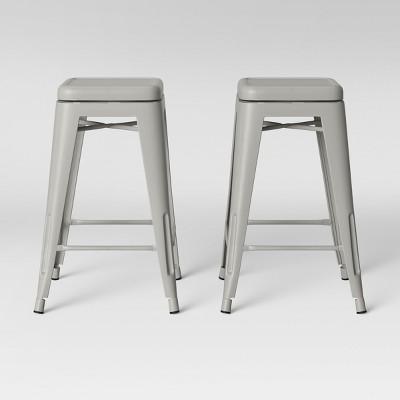 Set of 2 Carlisle Backless Swivel Counter Stool Taupe - Threshold™