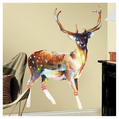 RoomMates Deer with Socks Peel and Stick Wall Decals - image 1 of 1