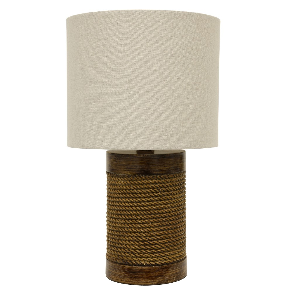 Image of Cali Rope Wrapped Accent Table Lamp Brown - Decor Therapy