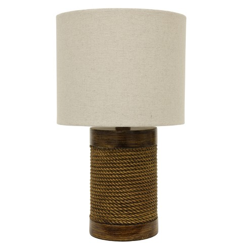 "15"" Cali Rope Wrapped Accent Table Lamp Brown - Decor Therapy - image 1 of 4"