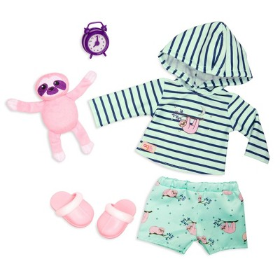 """Our Generation Sleepy Sloth Pajama Outfit with Soft Plush for 18"""" Dolls"""