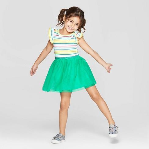 51116181cf1 Toddler Girls  Striped A-Line Dress - Cat   Jack™ Green   Target