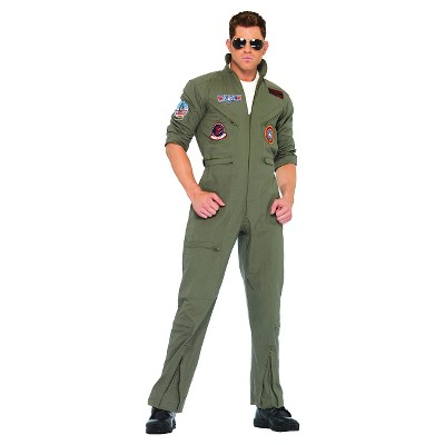 Adult Top Gun Jumpsuit Halloween Costume