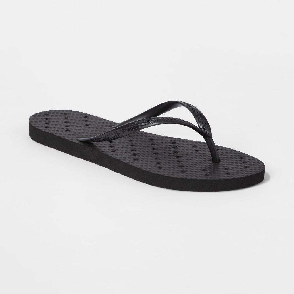 Best Online Unisex Shower Flip Flop Sandals XL Black Room Essentials