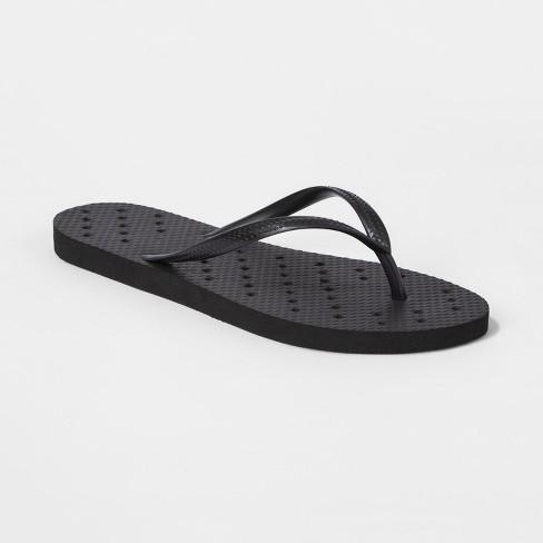Unisex Shower Flip Flop Sandals Black - Room Essentials™ - image 1 of 5