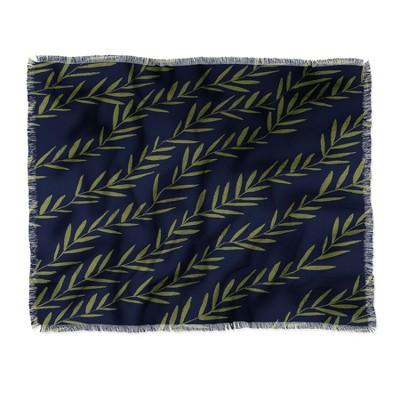 "60""X50"" Joy Laforme Fable Garden Vine Throw Blanket Blue - Deny Designs"