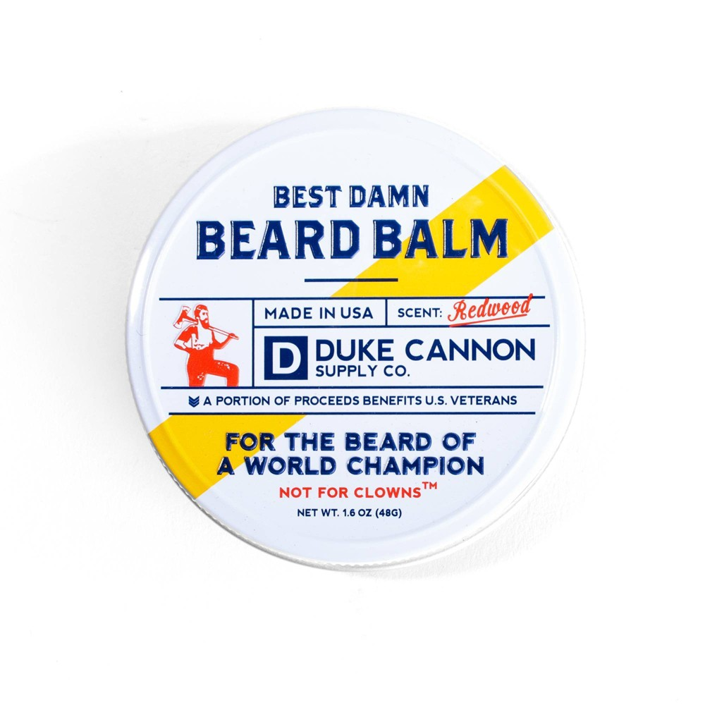 Image of Duke Cannon Best Redwood Damn Beard Balm - 1.6oz