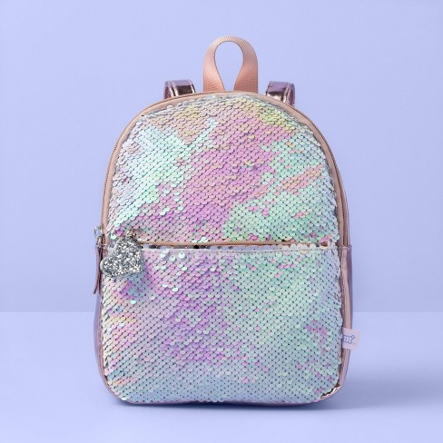 Girls' Flip Sequin Mini Backpack - More Than Magic™ Rose Gold - image 1 of 3