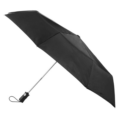 Totes Auto open Close Water Resistant Foldable Compact Umbrella - Black