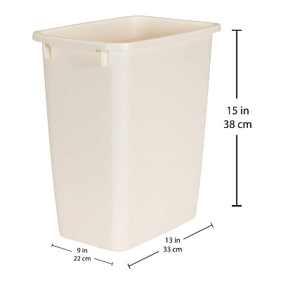 Rubbermaid 21 Quart Traditional Kitchen, Bathroom, and Office Wastebasket Trash Can, Bisque