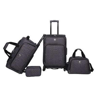 Skyline 4pc Luggage Set - Grey Geo