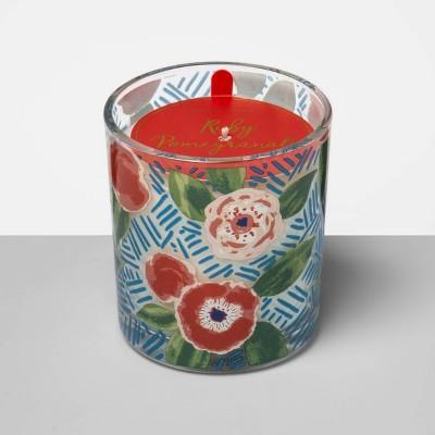 5.5oz Printed Glass Jar Candle Ruby Pomegranate - Opalhouse™