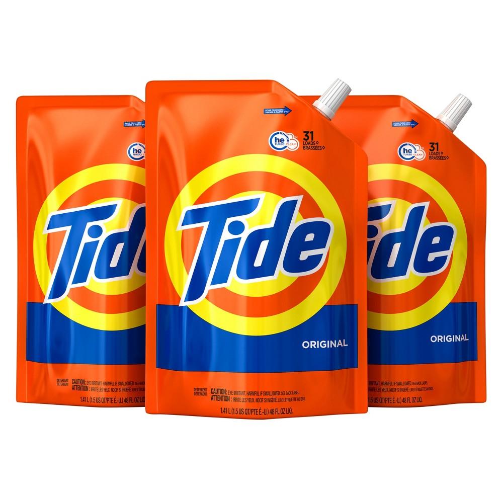 Tide Original Liquid Laundry Detergent - 48 fl oz 3pk
