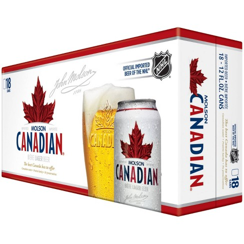 Molson Canadian Beer - 18pk/12 fl oz Cans - image 1 of 1
