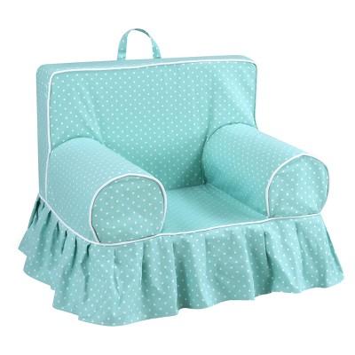 Charmant Addison Skirted Grab N Go Kidsu0027 Foam Chair With Handle   Mini Dot Canal  With White Welt   Kangaroo Trading Co.