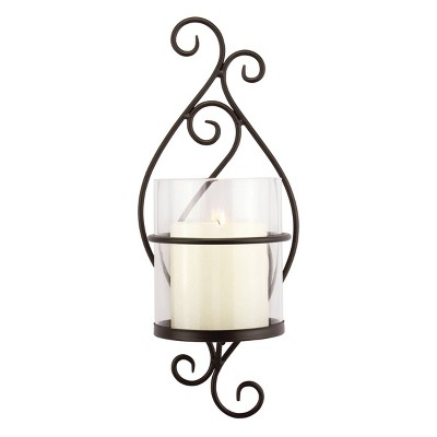 Wall Sconce Pillar Candle Holder - Stonebriar Collection