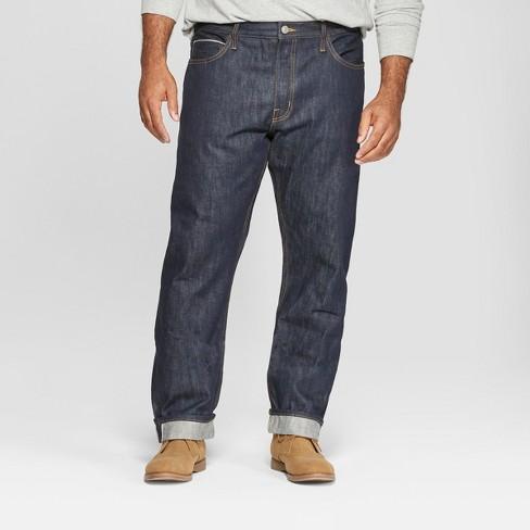 Men's Tall Slim Fit Selvedge Denim Jeans - Goodfellow & Co™ Dark Rinse - image 1 of 3