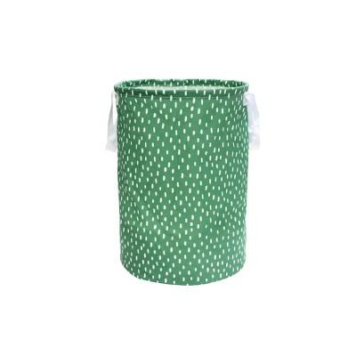 Soft Sided Scrunchable Round Laundry Hamper Crisp Green Dash - Room Essentials™
