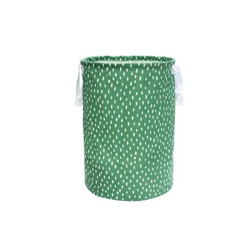 Soft Sided Scrunchable Round Laundry Hamper Crisp Green Dash - Room Essentials™ - image 1 of 1