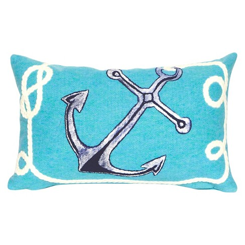 Aqua Throw Pillow - Liora Manne - image 1 of 1