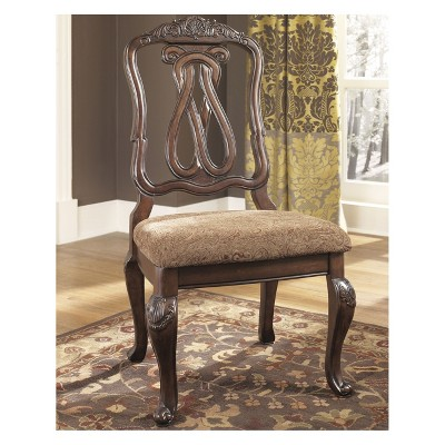North Shore Dining Uph Side Chair Dark Brown   Signature Design By Ashley :  Target