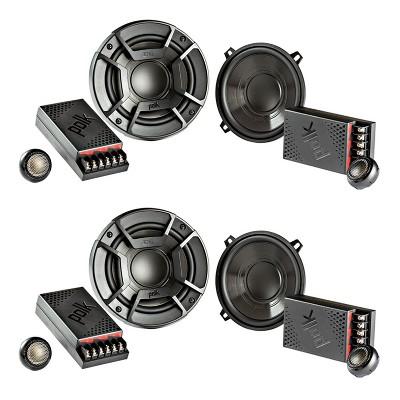 "Polk Audio 5.25"" 300W 2 Way Car/Marine ATV Stereo Component Speakers (4 Items)"