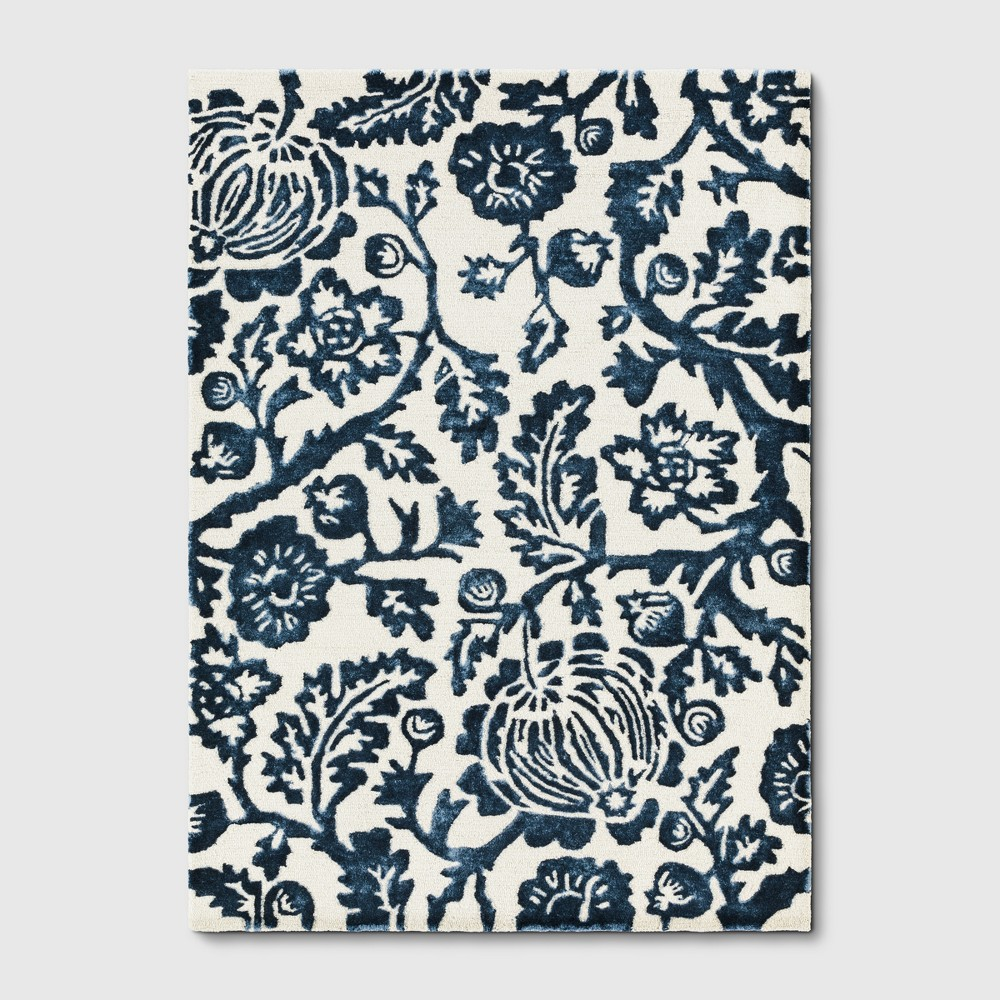 5'X7' Floral Tufted Area Rugs Blue - Threshold