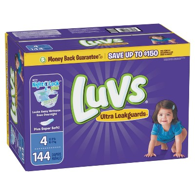 Luvs Disposable Diapers Giant Pack - Size 4 (144ct)