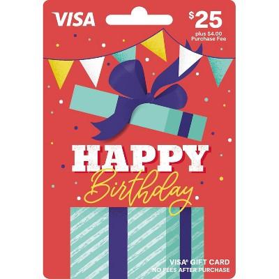 Visa Happy B-Day Gift Card - $25 + $4 Fee