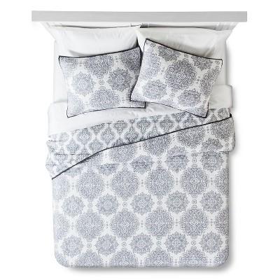 Cresta Quilt Set Full/Queen Gray - homthreads™