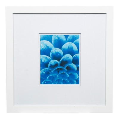 "18"" x 18"" Wide Double Matted to 8"" x 10"" Frame White - Gallery Solutions"