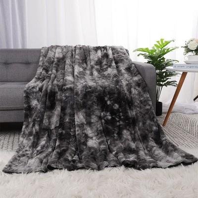 1 Pc Faux fur Soft Shaggy Fleece reverse Bed Blankets  - PiccoCasa