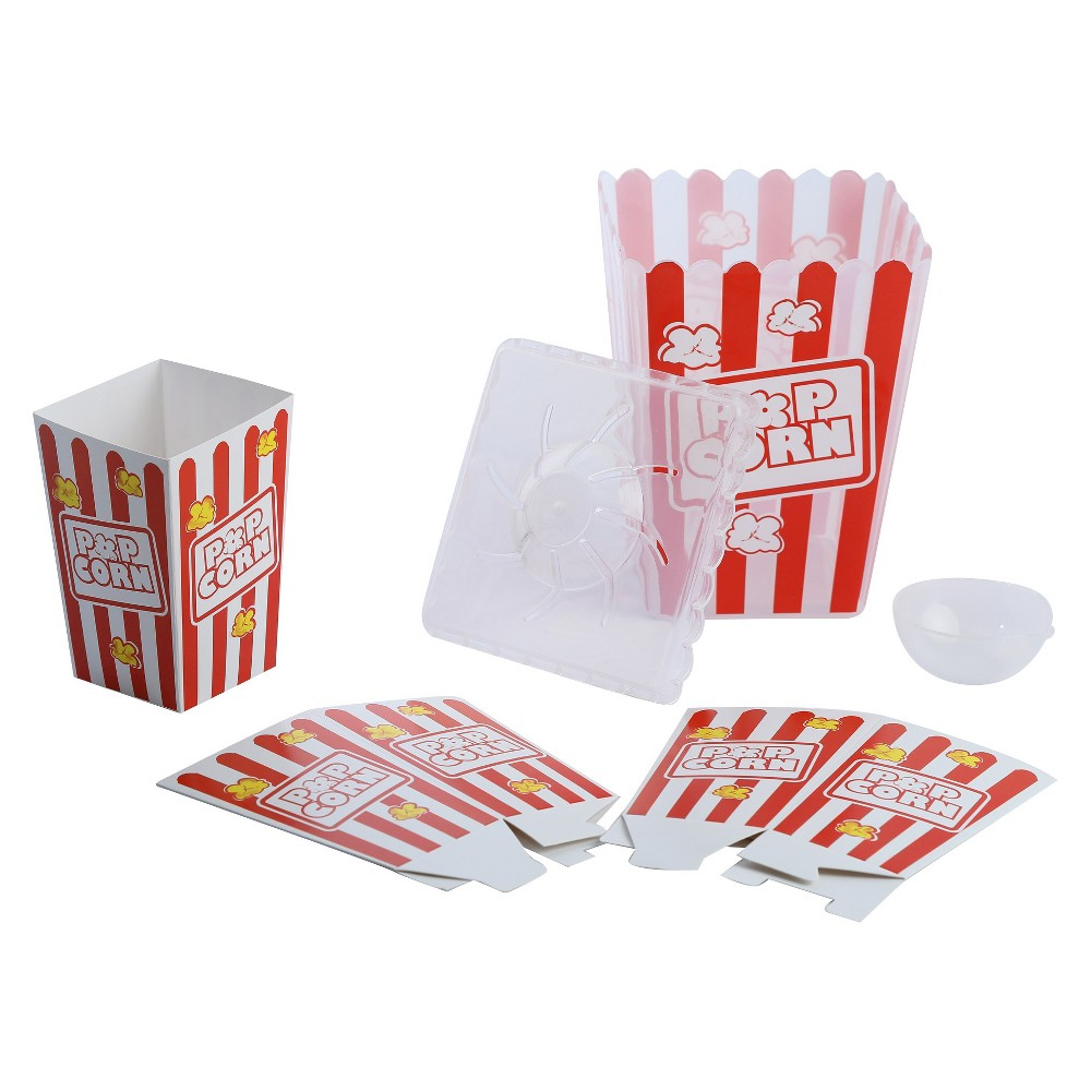 Amav Popcorn Maker, Real-Food Appliances Make your own popcorn delight in a few minutes! Works with microwave only. Note - Food materials are not included. Age - 6 and up. Warning: Choking Hazard -- Small parts. Not for children under 3 yrs. Gender: Unisex.