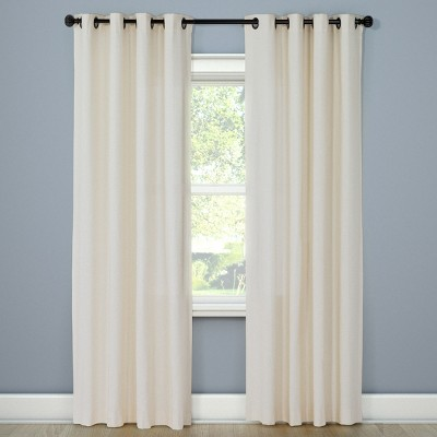 Natural Solid Curtain Panel Shell (54 x108 )- Threshold™