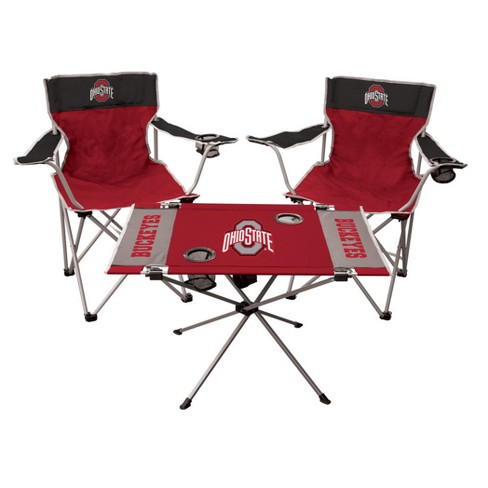 Ncaa Rawlings Tailgate Kit 2 Chairs And Endzone Table