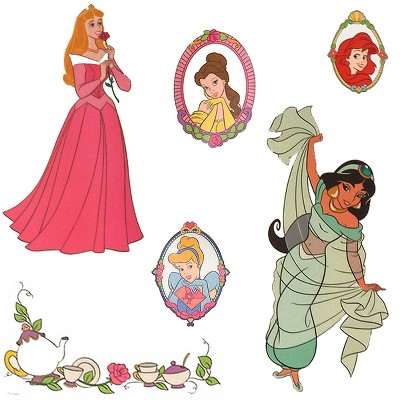 Stickers Royal Portraits Wall Decals - Disney Princess..