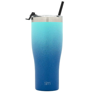 Simple Modern 32oz Stainless Steel Tumbler Ombre Turquoise