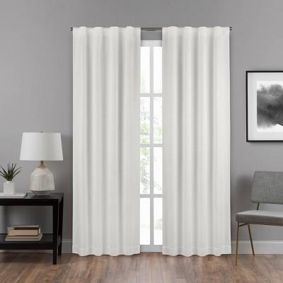"63""x40"" Summit Solid Draft Stopper Room Darkening Window Curtain Panel White - Eclipse"