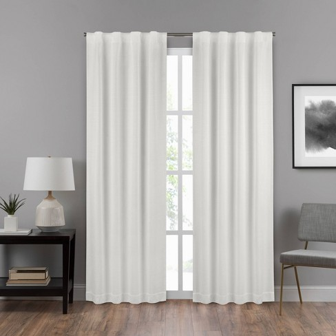 Summit Solid Draft Stopper Room Darkening Window Curtain Panel - Eclipse - image 1 of 3