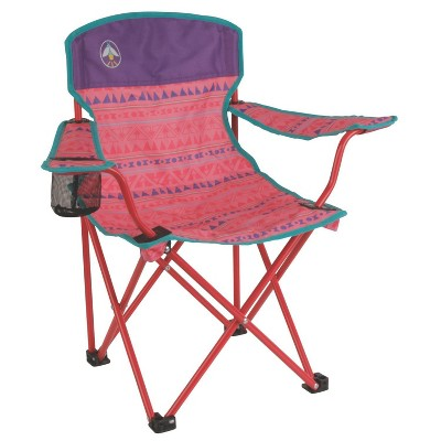 Coleman® Youth Glow-in-the-Dark Quad Chair with Carrying Case - Pink