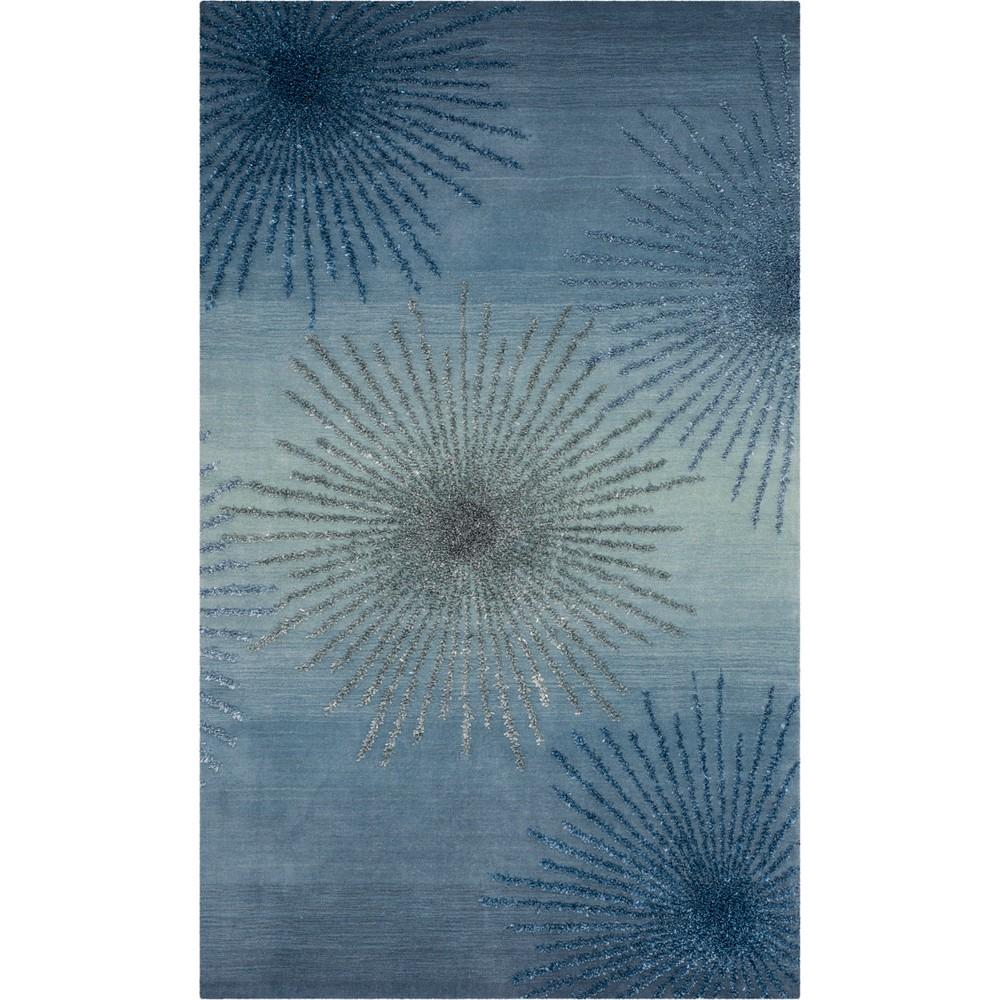 6'X9' Burst Tufted Area Rug Denim/Light Gray (Blue/Light Gray) - Safavieh