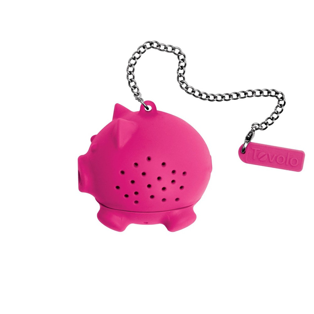Image of Tovolo Novelty Silicone Tea Infuser - Pig