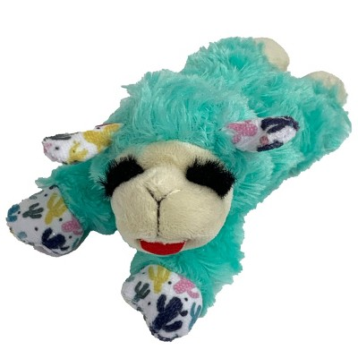 """Multipet Lamb Chop Teal with Cactus Ear and Paw Prints Dog Toy - 6"""""""