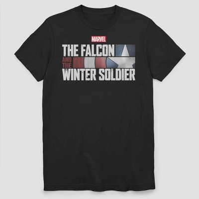 Men's Marvel Falcon and Winter Soldier Short Sleeve Graphic Crewneck T-Shirt - Black