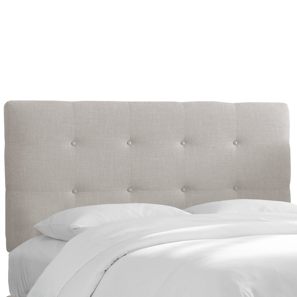 Twin Dolce Headboard Feather Gray Linen - Cloth & Co.