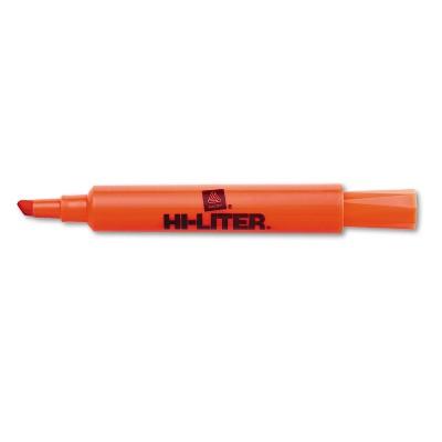 Avery HI-LITER Desk-Style Highlighter Chisel Tip Fluorescent Orange Ink Dozen 24050