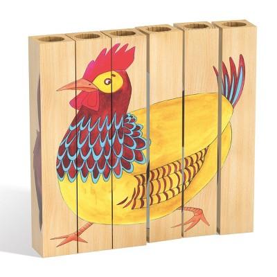 Quercetti Farm Wooden Puzzle - 4pk