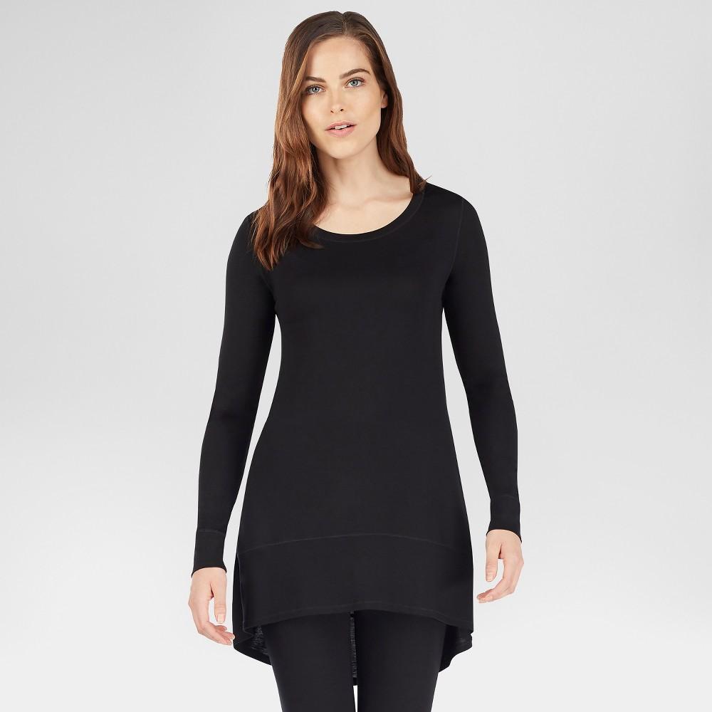 Warm Essentials by Cuddl Duds Women's Smooth Stretch Tunic - Black M