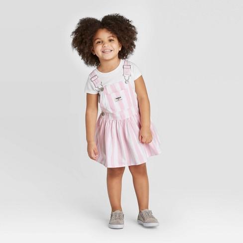 OshKosh B'gosh Toddler Girls' Striped Skirtall - Pink - image 1 of 3